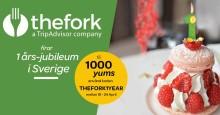 TheFork i Sverige firar 1-års jubileum!