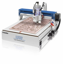 The LPKF ProtoMat E44 is a low-cost introduction to the world of professional in-house printed circuit board prototyping.