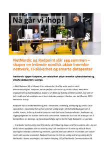 PM - NetNordic + Radpoint - NO -