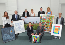 """Kunst meets Jazz"" in der Sparkasse Neuss"