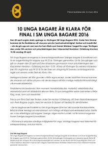 Pressrelease SM Unga Bagare 2016