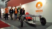MDH Solar Team presenterar solcellsdriven racingbil på Stockholmsmässan