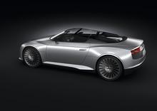 Audi e-tron Spyder avtäckt på bilsalongen i Paris