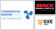 OXE Diesel displayed at commercial marine expo by Mac Boring 23 to 24 of October