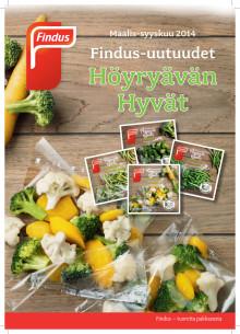 Findus-uutuudet Maalis-syyskuu 2014