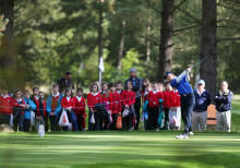 Golfing crowds out in force