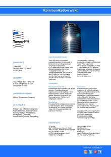 Agenturprofil Tower PR