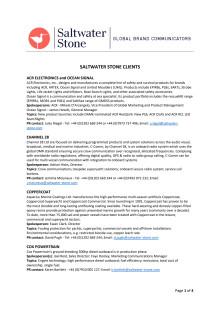 Saltwater Stone client list