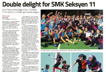 Double delight for SMK Seksyen 11