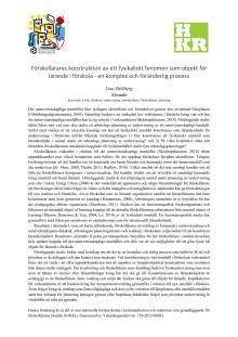 Förskollärares konstruktion av ett fysikaliskt fenomen som objekt för lärande i förskola - en komplex och föränderlig process