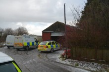 Suspected stolen van and parts found following warrant at business unit in Ashton-in-Makerfield
