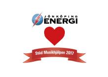 Jönköping Energi stödjer Musikhjälpen med 21.200 kr!