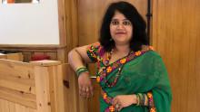 En jente fra India...
