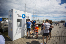 KSSS gör dricksvatten av Östersjövatten på Sandhamn