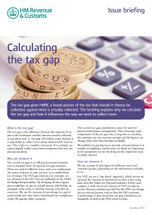 HMRC Briefing - Calculating the tax gap