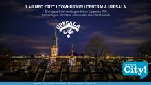 Användarna ger högt betyg åt fritt WiFi i centrala Uppsala
