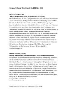 Klassische Musikfestivals in Leipzig 2020-2022