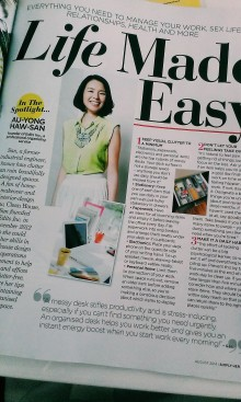 Life Made Easy - Edits Inc feature in Simply Her Magazine, August 2014 issue