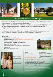Välmåenderesa för dig med utmattningssymptom - Balans Forum