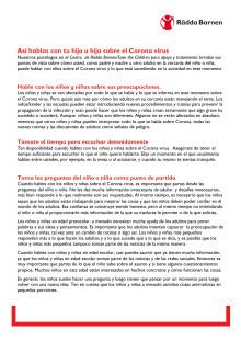Spanska: så pratar du med barn om corona
