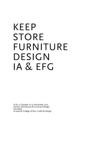 Keep store furniture design
