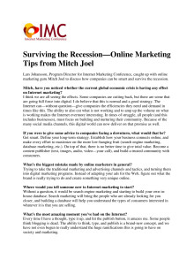Internet Marketing Conference Presents: Surviving the Recession—Online Marketing Tips from Mitch Joel