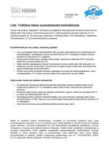 LIITE: Tutkittua tietoa suomalaisesta herkuttelusta