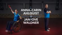 Bordtennislegendaren J-O Waldner utmanad av guldparalympier