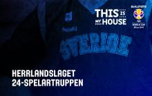 BASKET: Sveriges 24-spelartrupp inför VM-kvalet klar