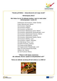 Butiker med vårkampanj Närproducerat och noga utvalt
