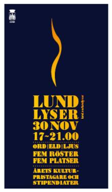Ljus, eld och värmande berättelser i Lund den 30 november