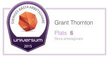 Grant Thornton - branschens bästa arbetsgivare för tredje året i rad