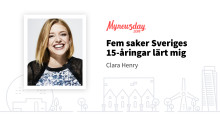 """Mynewsday 2018 - """"Eftersom jag tror att vi alla har mycket att lära av dagens 15-åringar vill jag dela med mig om vad jag själv lärt mig"""""""