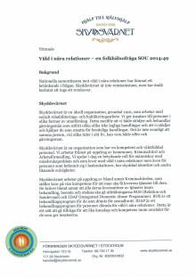 Yttrande om Våld i nära relationer - en folkhälsofråga (SOU 2014:49)