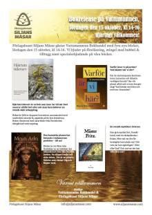 Inbjudan till bokrelease av fyra nya titlar