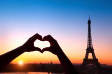 Paris populäraste weekendstaden på Alla Hjärtans dag
