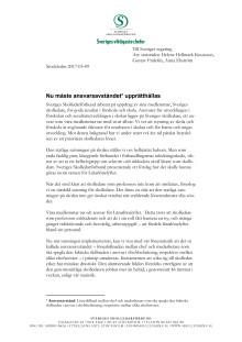 """Brev till regeringen om """"ansvarsavståndet"""" rörande skolledarnas löner"""