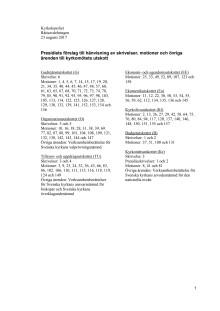 Utskottsfördelning av motioner och skrivelser 2017