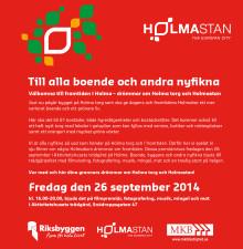 Till Holmabor och andra nyfikna - Festligt mingel om framtidens Holma!
