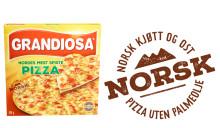 Innfører merking av pizza uten palmeolje