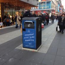Stockholms mest välbesökta gata hålls ren, dygnet runt