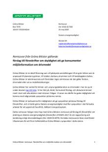 Gröna Bilister Remissvar 2018-017282 föreskrifter miljöinformation om drivmedel.pdf
