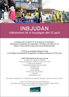 Pressinbjudan: A-husdagen 12 april 2014