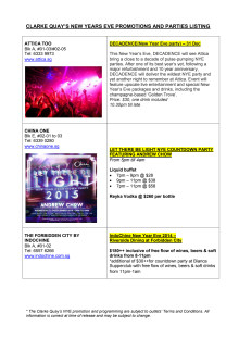 CLARKE QUAY NYE OUTLETS PROMOTIONS & PARTIES