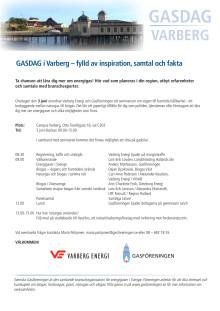 GASDAG i Varberg – fylld av inspiration, samtal och fakta