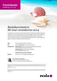 Pressinbjudan: Så reser svenskarna 2014