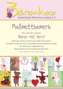 Malwettbewerb: Gesucht wird der schönste Bär mit Herz! (Flyer)