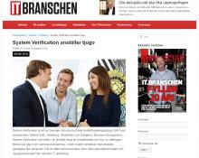 IT.Branschen skriver om System Verifications höga anställningstakt
