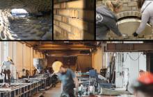 Arkitektstudenter lærer om mur og betong