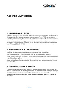 GDPR Policy